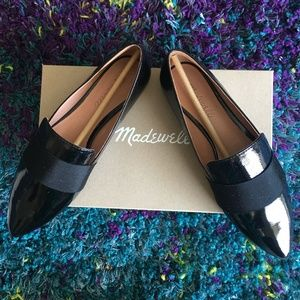 Madewell Leandra Loafer in Patent Black